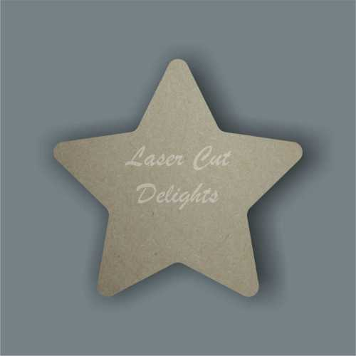 Star - curved edges 18mm