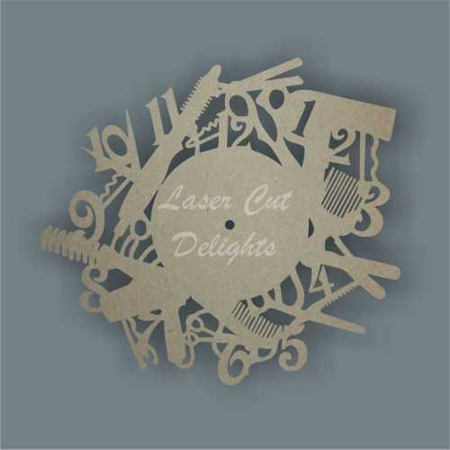hairdressers clock mdf cut