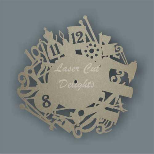 craft clock mdf wood cut