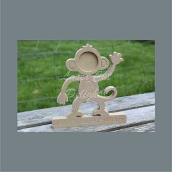 Monkey Photo Frame 18mm 20cm / Laser Cut Delights