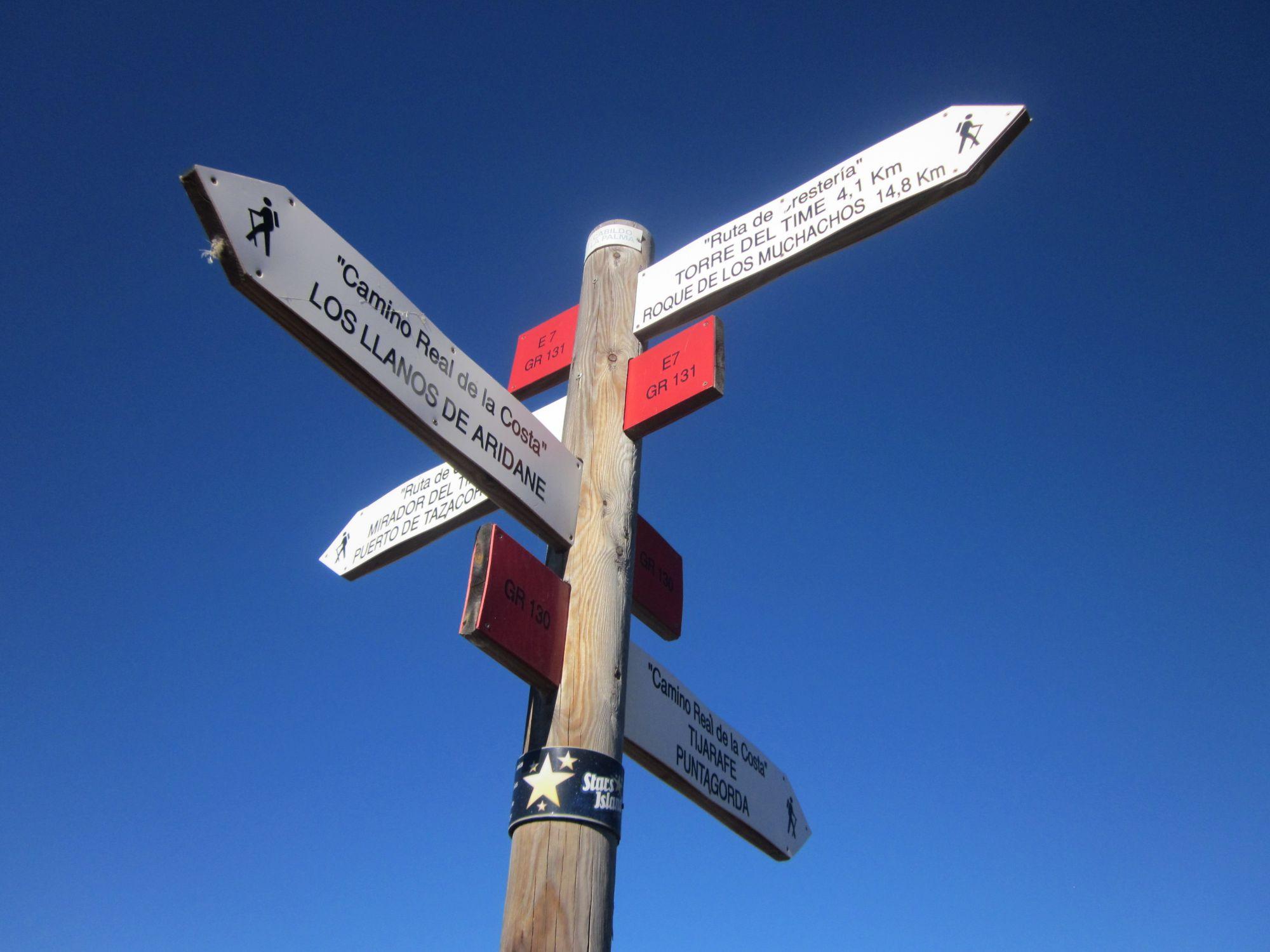 Walking routes on La Palma