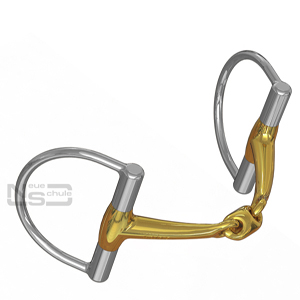 Neue Schule 8022D Tranz Angled Lozenge D-Ring 14mm Mouthpiece