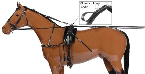 French Loop H309 Harness Set - Black
