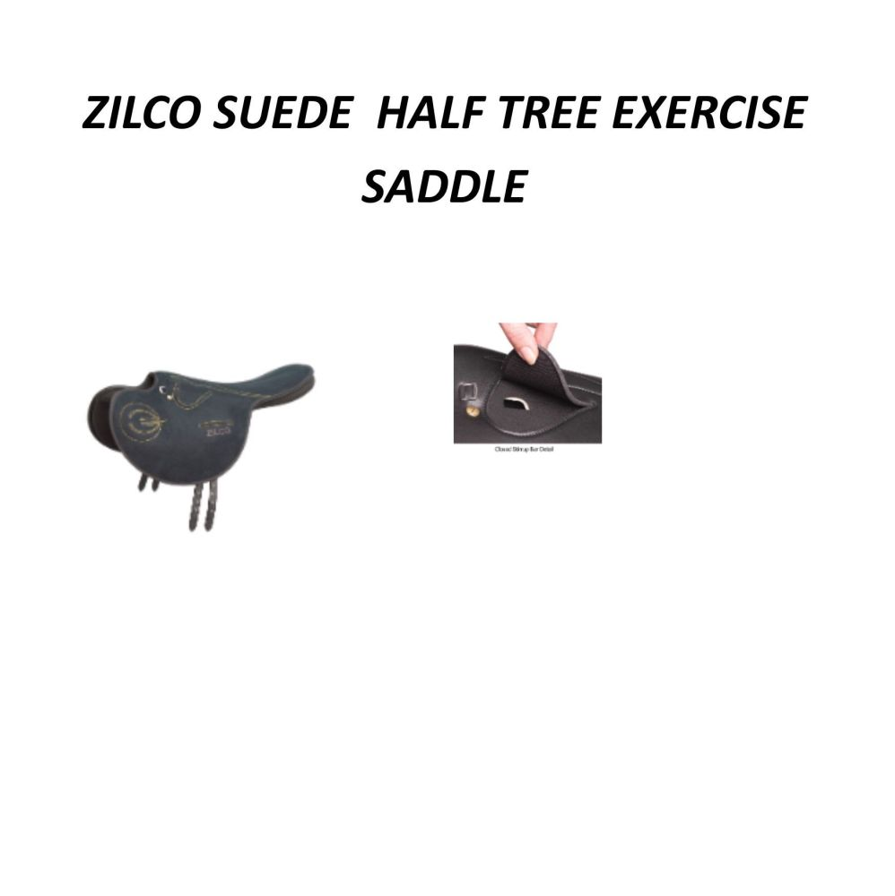 Suede Full Tree Exercise Saddle Black code 686211