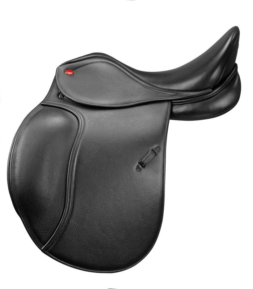 """John Whitaker Harrogate Dressage Saddle- Black- 16.5""""-18"""" Seat-Free P&P"""