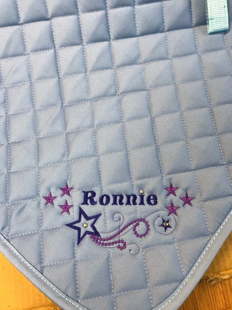 Personalised Embroidered Saddle Cloth