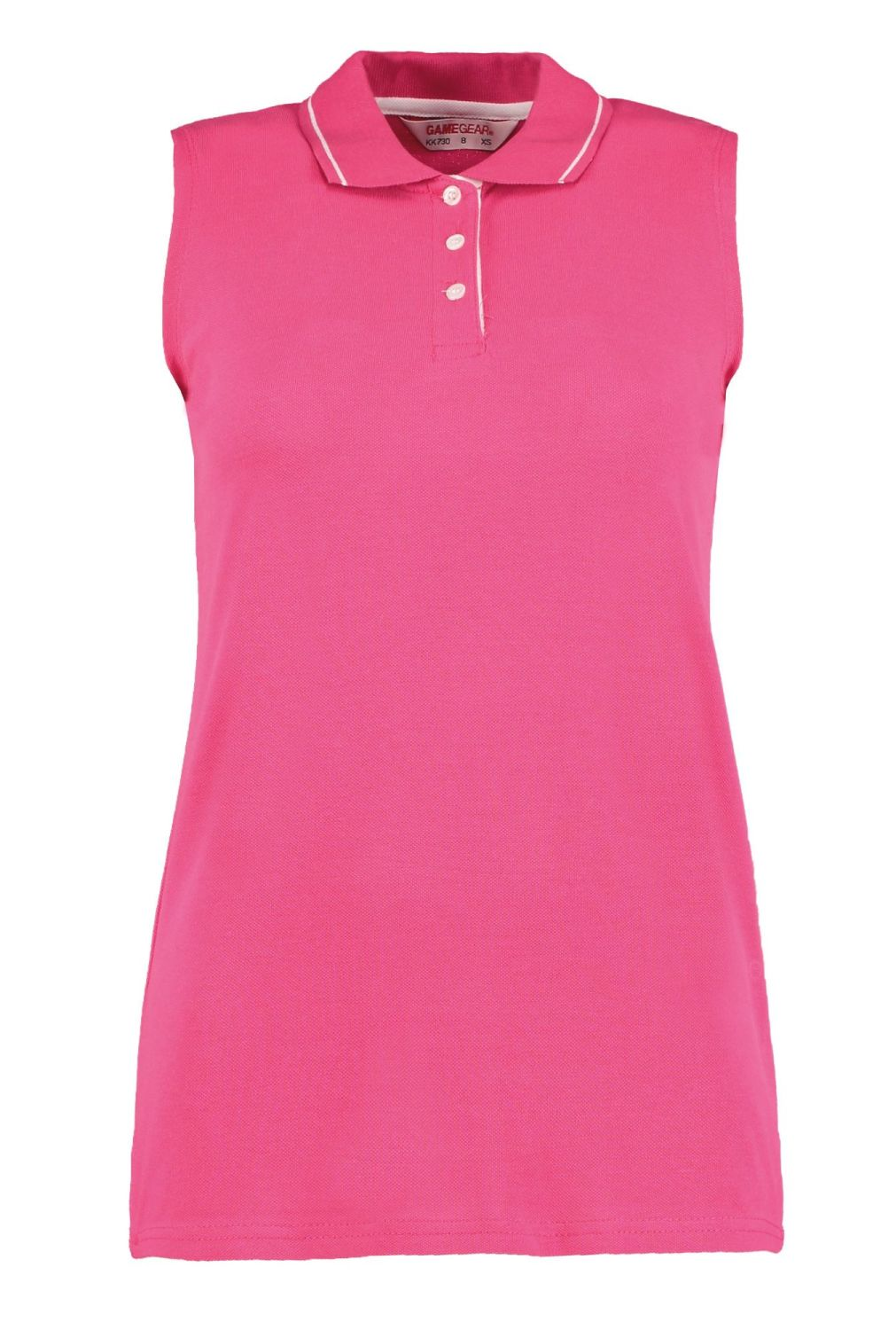 Women's sleeveless pique polo shirt