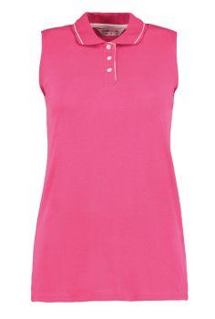 Women's sleeveless pique polo shirt