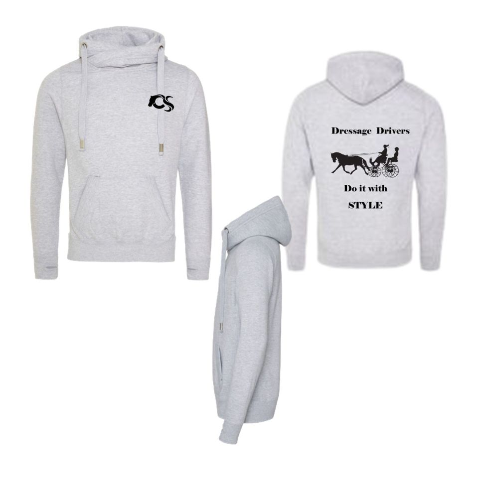 DRESSAGE DRIVER CROSS NECKED HOODIE