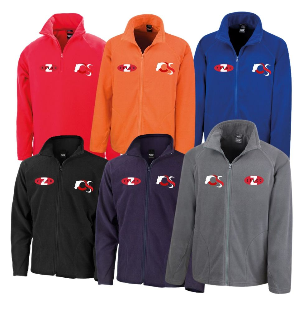 Zilco and chndelles logo fleece team wear jacket