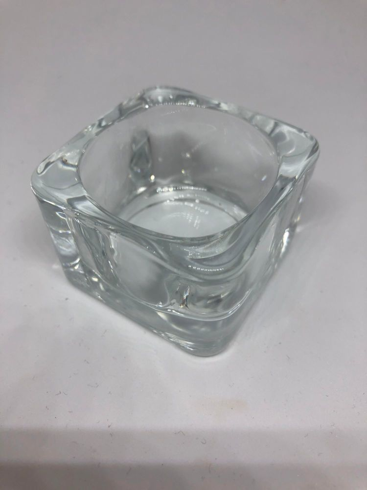 Glass dampen dish - for tint mixing