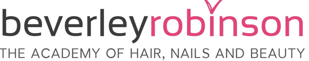 beverley robinson THE ACADEMY OF HAIR, NAILS AND BEAUTY, site logo.