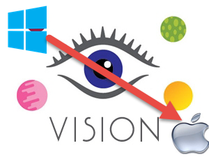 Convert Vision for Windows to Mac