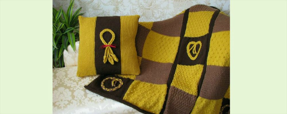 Homepage  Wheat Plait Cushion and Throw