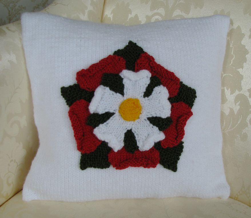 Pattern Collection - Patriotic Cushion Cover - English Tudor Rose