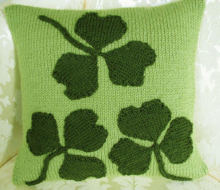 Patriotic Cushion Cover Pattern - Irish Shamrock