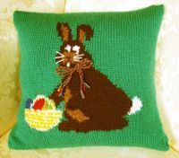 Seasonal Cushion Cover Easter Pattern - Easter Bunny