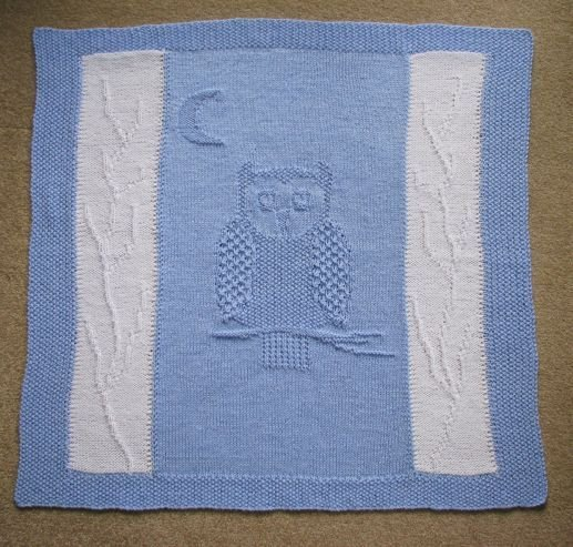 Pram/Cot Blanket Pattern - Owl