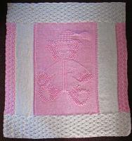Pram/Cot Blanket Pattern - Teddy Bear