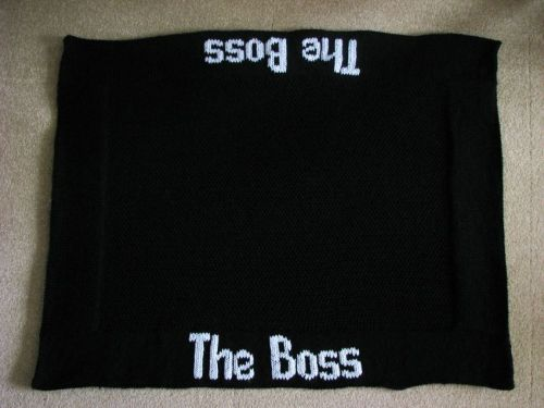 Pattern Collection - Pet Blanket - The Boss