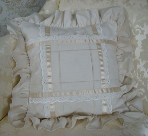 Pattern Collection - Calico & Lace Cushion Cover - Bella