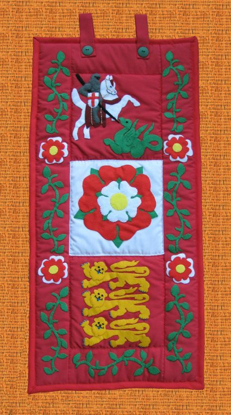 Pattern Collection - Patriotic Wall Hanging - England Banner