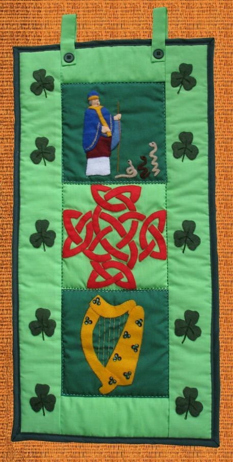 Pattern Collection - Patriotic Wall Hanging - Ireland Banner