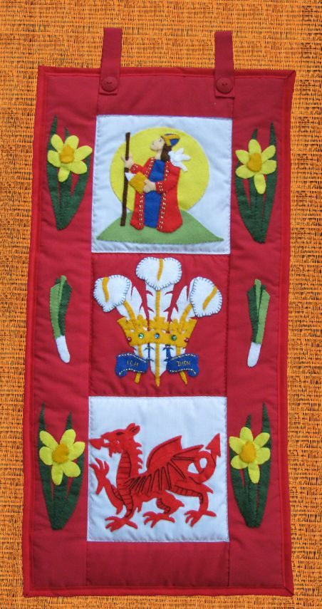 Pattern Collection - Patriotic Wall Hanging - Wales Banner