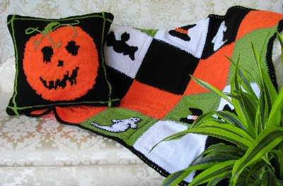 Halloween Cushion and Throw