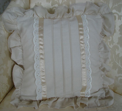 Calico & Lace Cushion Cover - Amy