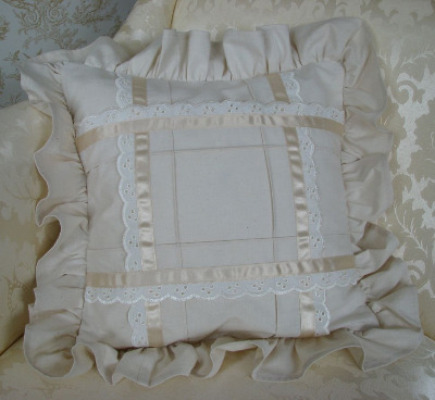 Calico & Lace Cushion Cover - Bella