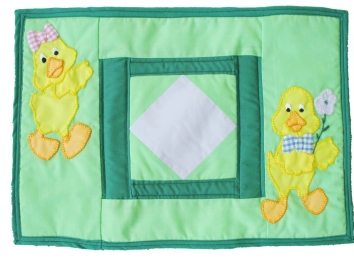 Quilted Placemats (Pack of 2)  - Easter Chicks