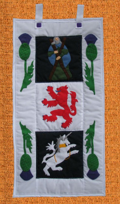 Quilted Wall Hanging - Scotland