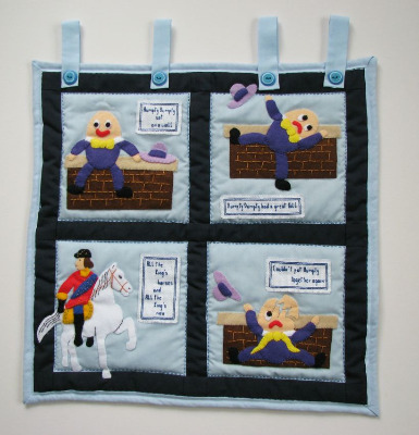 Quilted Wall Hanging - Humpty Dumpty Nursery Rhyme