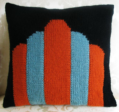 Art Deco 'Columns' Cushion Cover