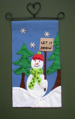 Christmas Banner - Snowman