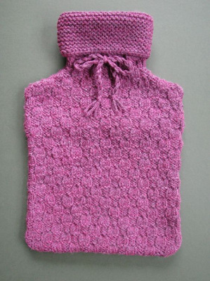 Hot Water Bottle Cover - Heather Tweed