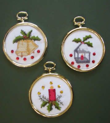 Trio of Christmas Hanging Ornaments