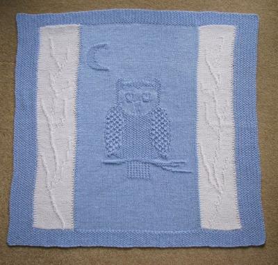 Pram/Cot Blanket - Owl