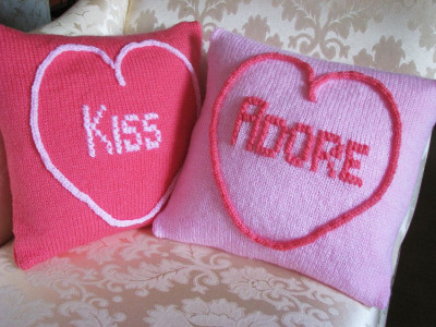 Love Hearts Cushion Covers (Kiss & Adore) Kit