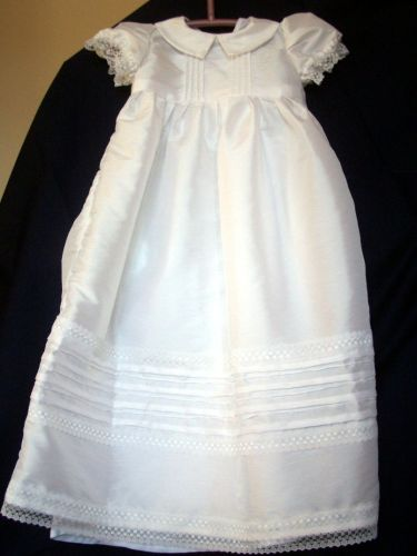 Lace and Tucks Christening Gown
