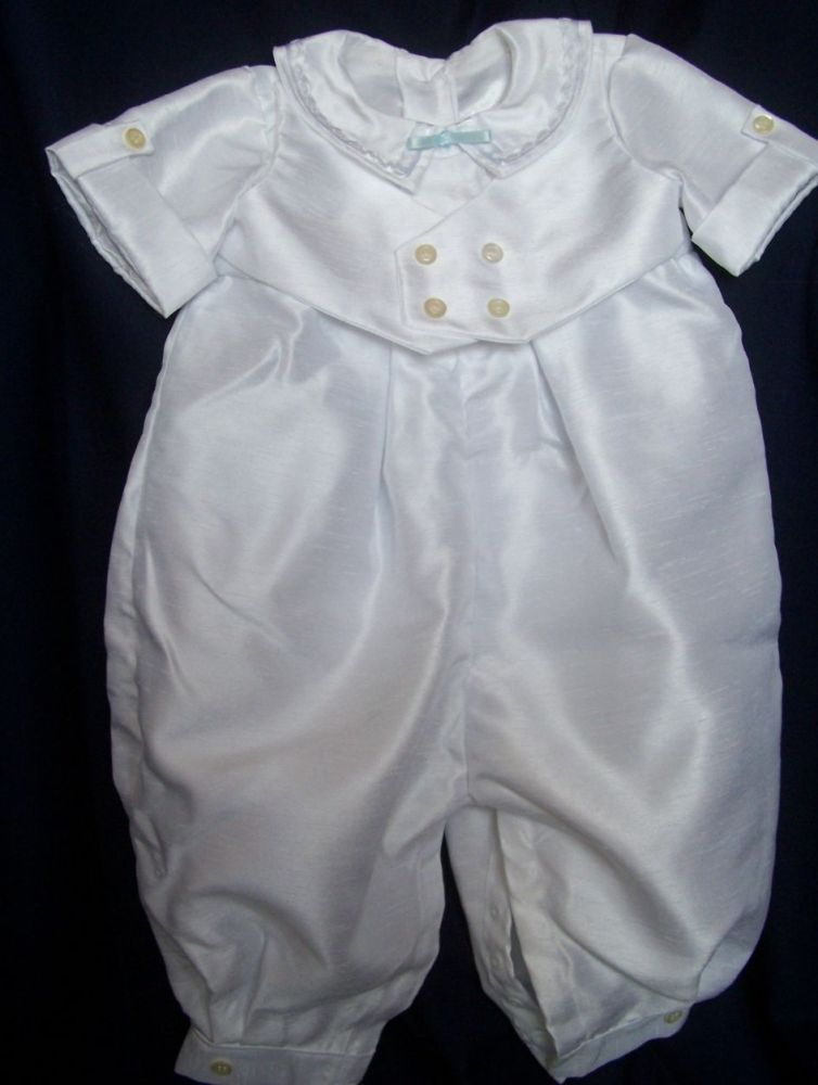 Hearts and Waistcoat Christening Romper Suit