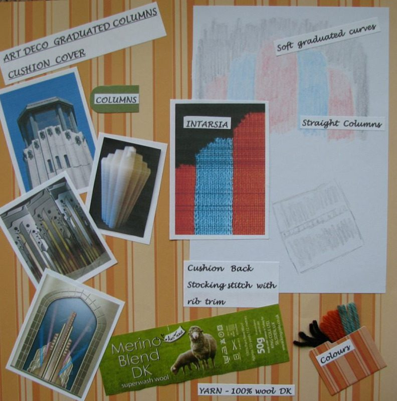 Blog art deco graduated columns cushion cover