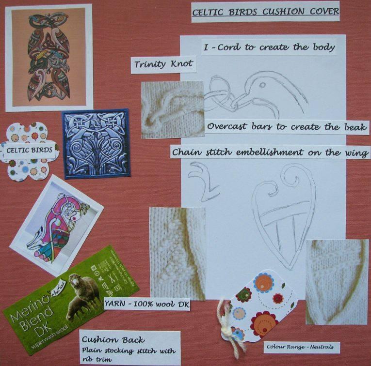 Blog celtic birds cushion cover