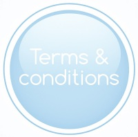 terms & conditions pale lifht blue