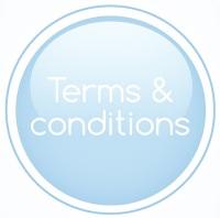 terms & conditions pale lifht blue
