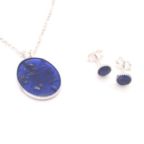 Ashes Necklace & earring set
