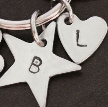 Name initial stamped Charm