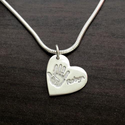 SINGLE PRINT + NAME standard size necklace