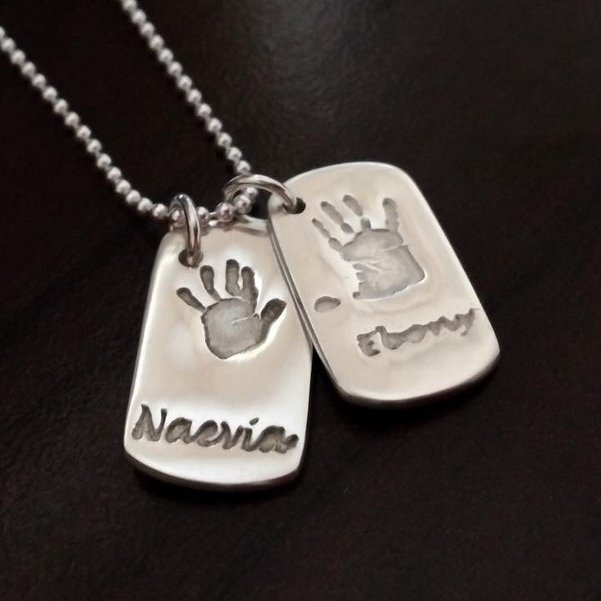 double dog tag necklac